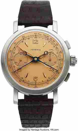 54111: Juvenia, Very Rare Split-Second Chronograph, 38