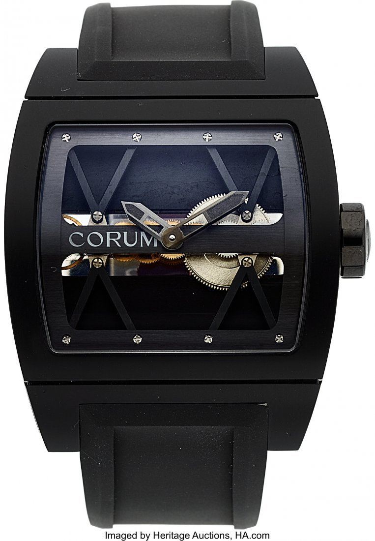 54032: Corum, Black Titanium Ti-Bridge, Ltd Ed. 140/250