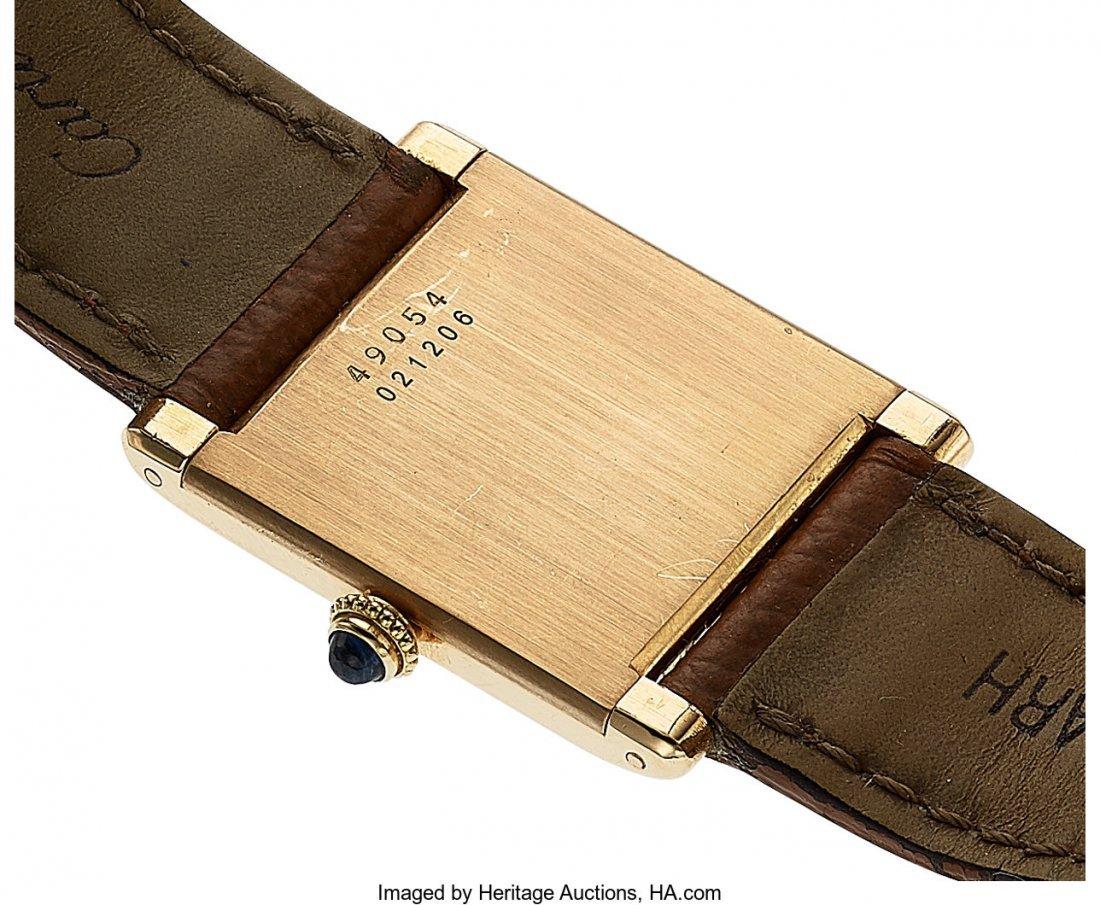54056: Cartier, 18k Yellow Gold Tank, JLC Cal. P838, Pe - 2