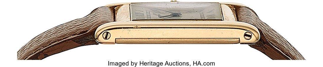 54056: Cartier, 18k Yellow Gold Tank, JLC Cal. P838, Pe - 4