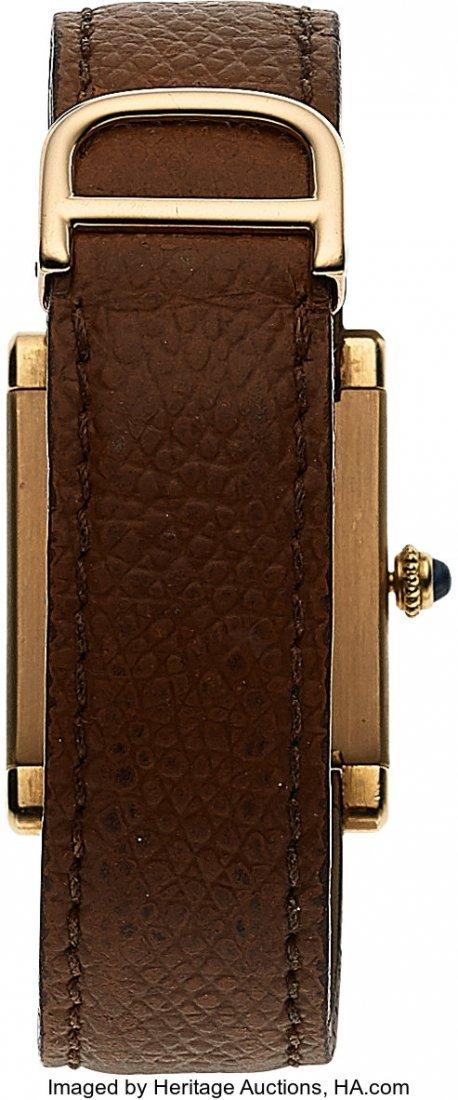 54056: Cartier, 18k Yellow Gold Tank, JLC Cal. P838, Pe - 5
