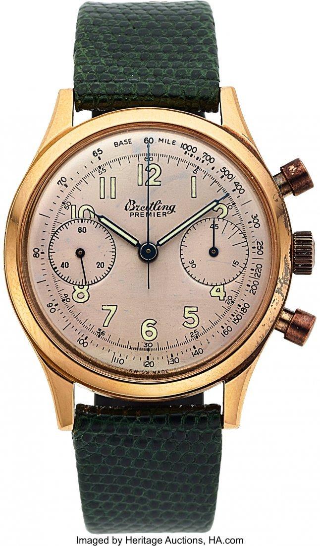 54141: Breitling, Ref. 790 Premier, 18k Rose Gold Chron