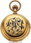 54296 Waltham Five Minute Repeater Gold amp Enamel Cas
