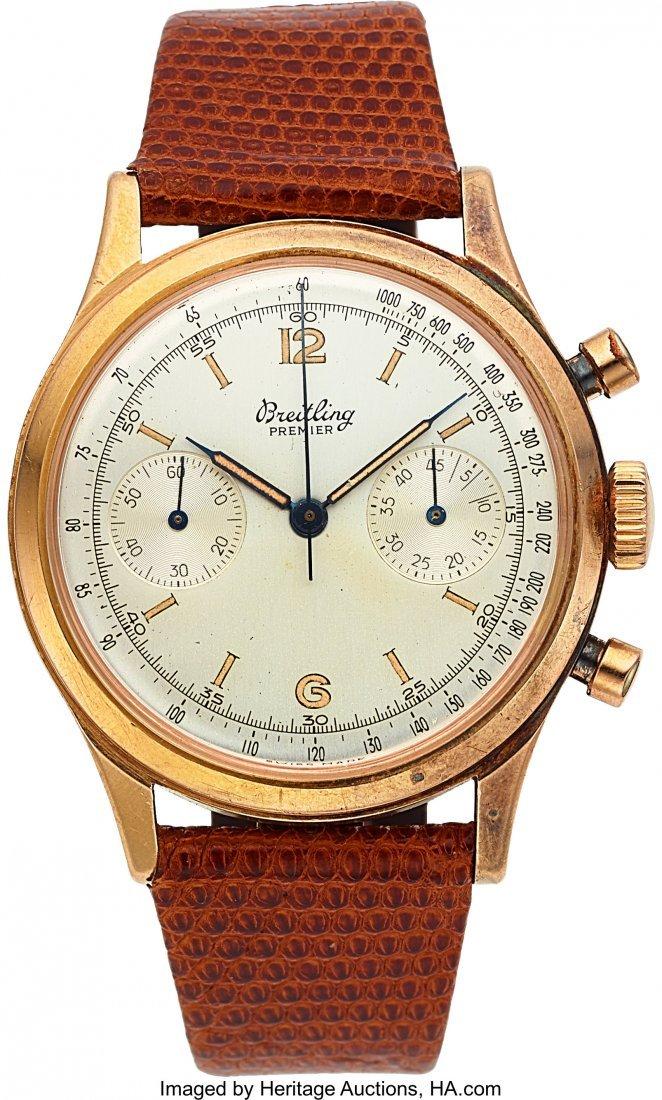 54142: Breitling, Fine Oversize Premier Chronograph, 18