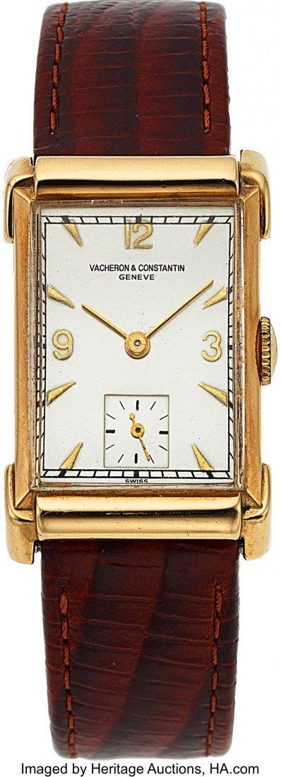54071: Vacheron & Constantin, 14k Gold Vintage Rectangu