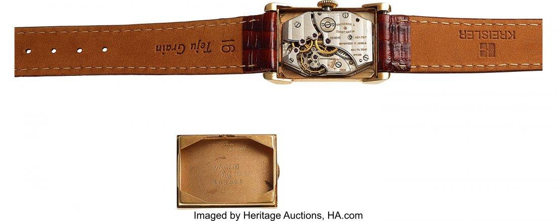 54071: Vacheron & Constantin, 14k Gold Vintage Rectangu - 4