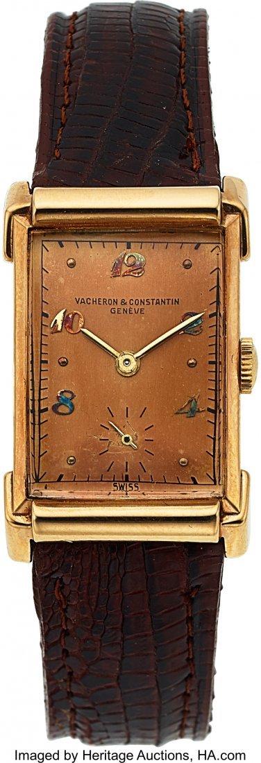 54072: Vacheron & Constantin, Fine Vintage 14k Gold Rec