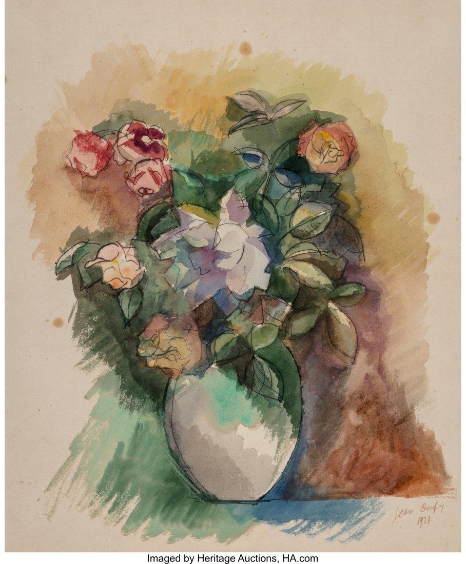 69024: Jean Dufy (French, 1888-1964) Bouquet de fleurs,