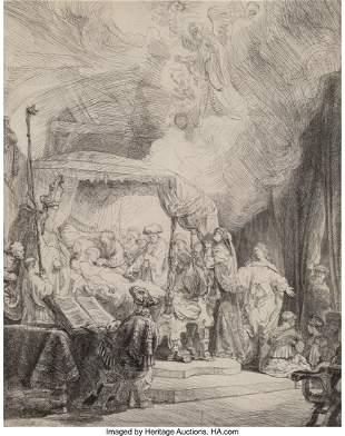 69045: Rembrandt van Rijn (Dutch, 1606-1669) The Death