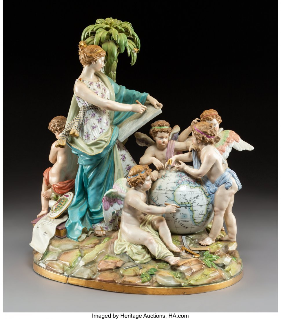 63012: A Large Continental Porcelain Figural Grouping,