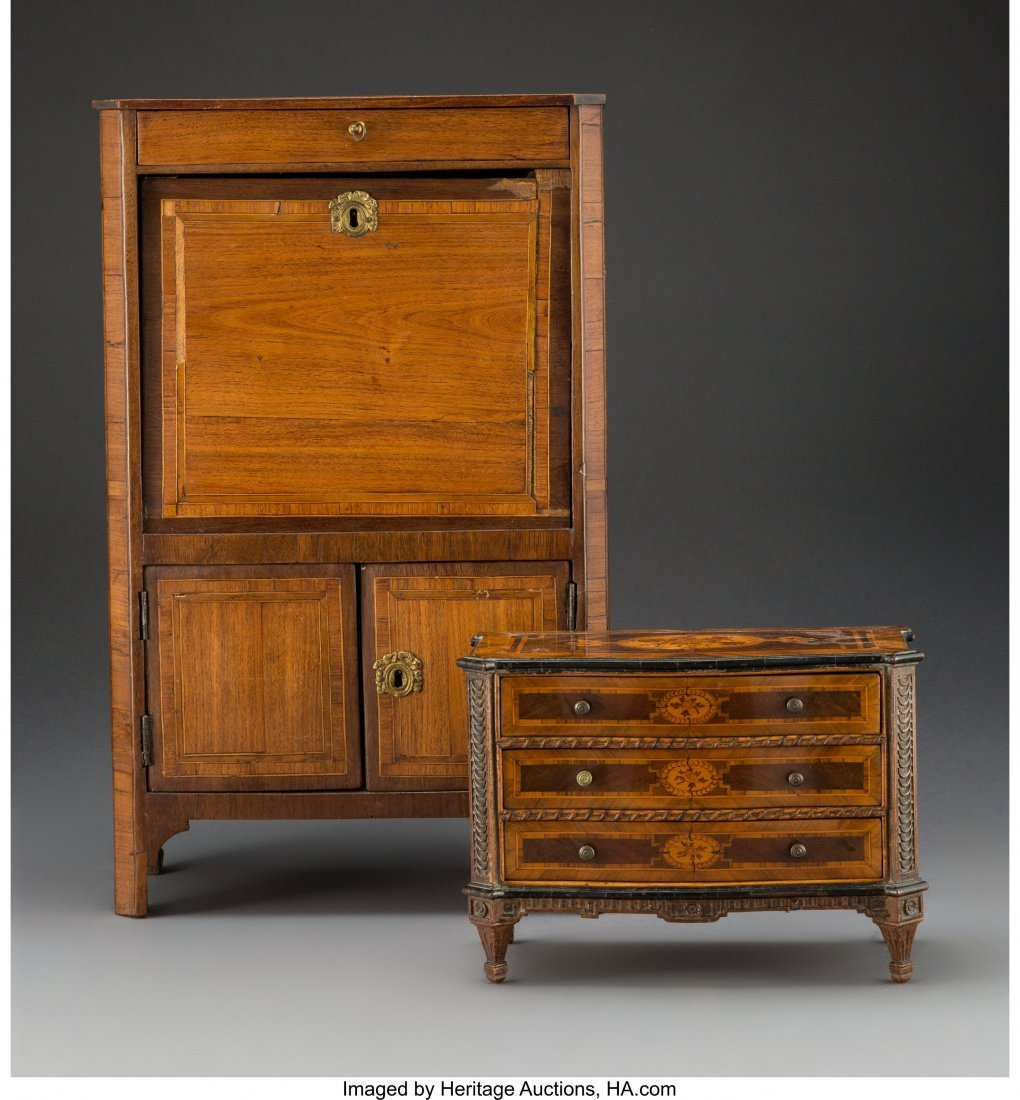 63164: An Italian Neoclassical-Style Marquetry-Inlay Mi