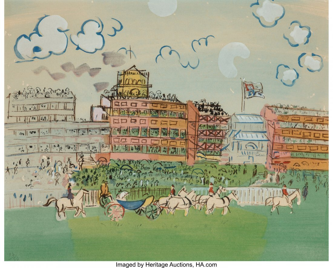 63744: Raoul Dufy (French, 1877-1953) Track at Ascot, 1