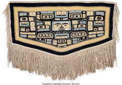 70214: A Tlingit Chilkat Blanket c. 1890 mountain goa