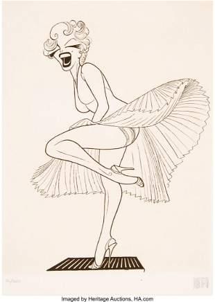 56214: Al Hirschfeld (American, 1903-2003) Marilyn Monr