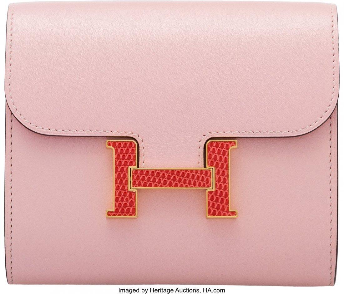 16006: Hermès Rose Sakura Tadelakt Leather & Bou