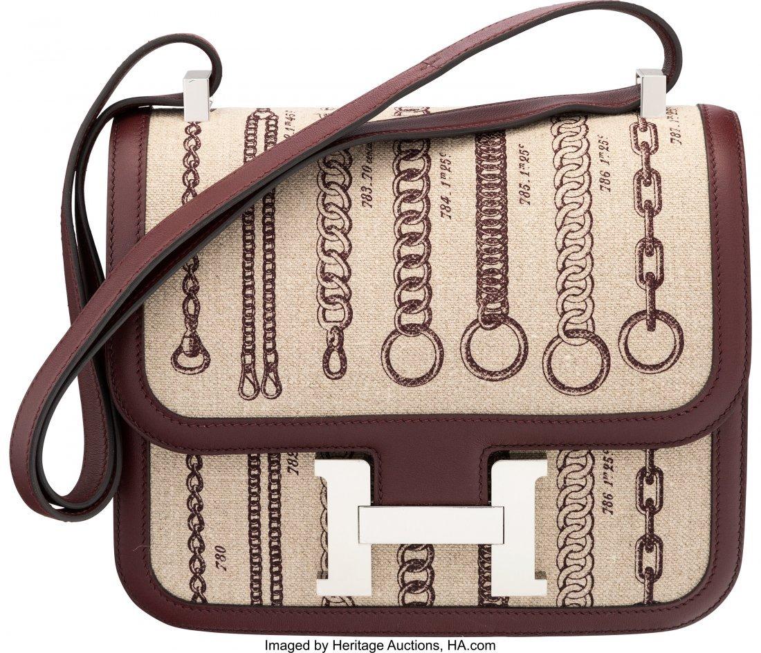16016: Hermès Limited Edition 23cm Burgundy Swif
