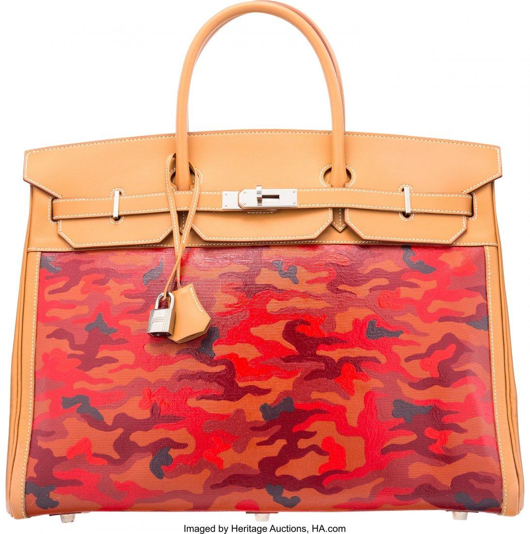 16021: Hermès 40cm Customized Red Camouflage Gol