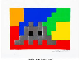 66082: Invader (French, b. 1969) Home Lego (Silver), 20