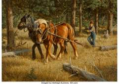 68018: Tucker Smith (American, b. 1940) Logging, 1980 O