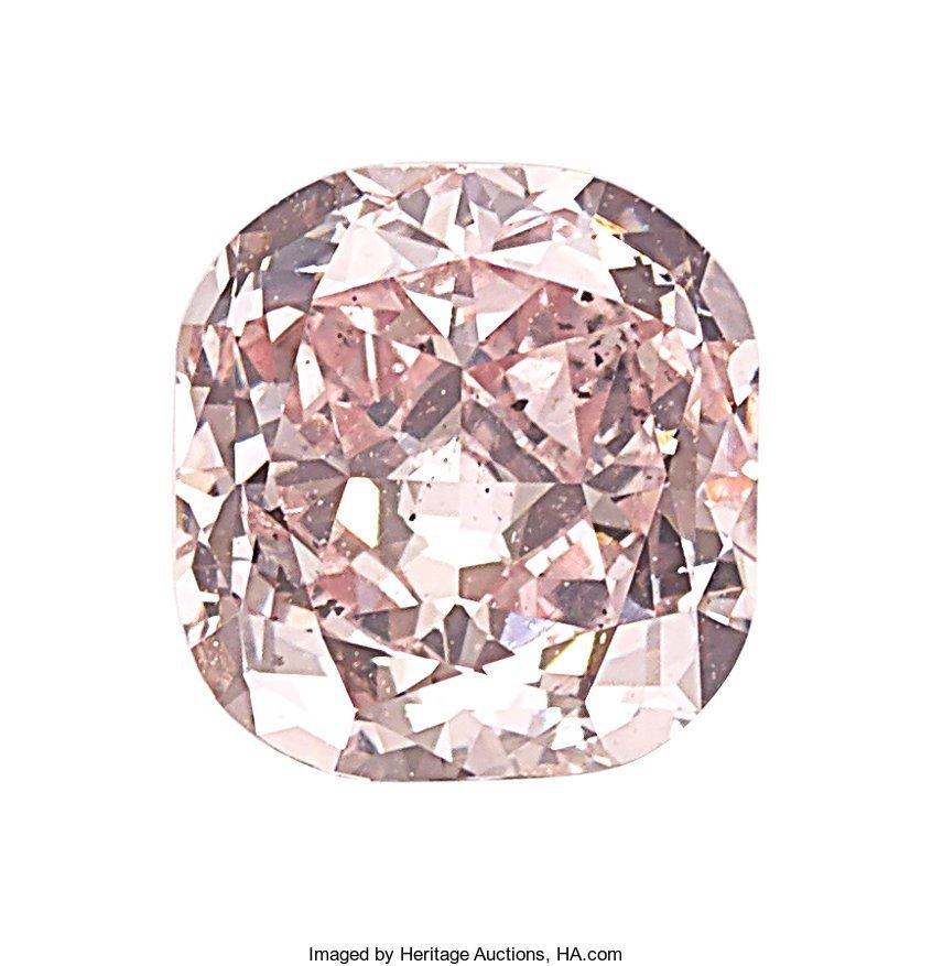 55156: Unmounted Fancy Purplish Pink Diamond  The round