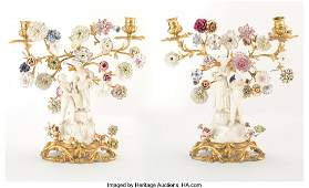 23133: A Pair of French Louis XV-Style Gilt Bronze and