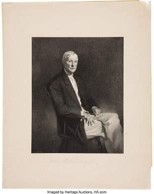 """47332: John D. Rockefeller Engraving Signed """"John D. Ro"""