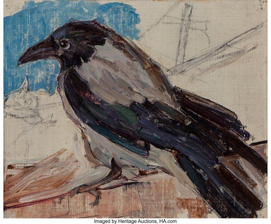 Leon Gaspard (American/Russian, 1882-1964) Crow