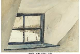 68110: Andrew Wyeth (American, 1917-2009) Cold Spell, 1