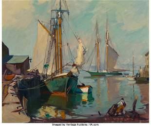 68188: Emile Albert Gruppe (American, 1896-1978) Boats