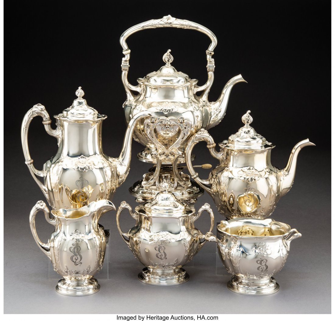 74115: A Six-Piece Gorham Mfg. Co. Silver Tea and Coffe