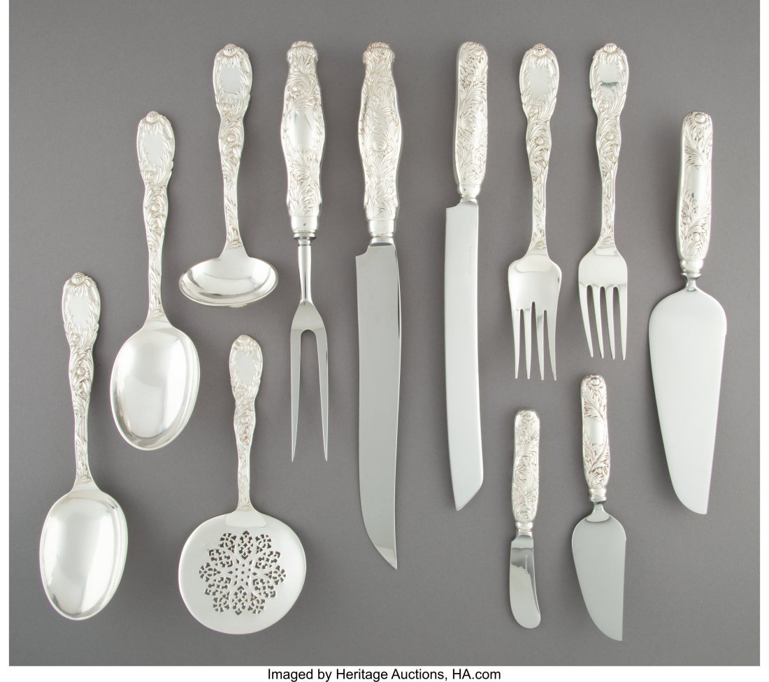 74140: A Twelve-Piece Group of Tiffany & Co. Chrysanthe