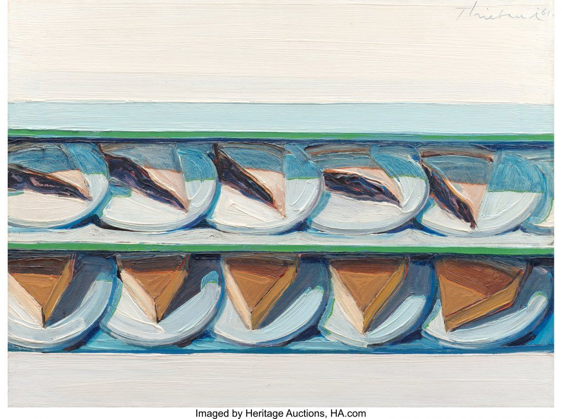 Wayne Thiebaud (b. 1920) Blueberry Custard, 1961