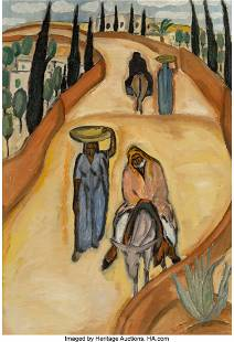 77025: Reuven Rubin (1893-1974) Untitled, 1923-24 Oil o