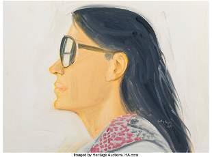 77171: Alex Katz (b. 1927) Untitled (Carmen), 2008 Oil