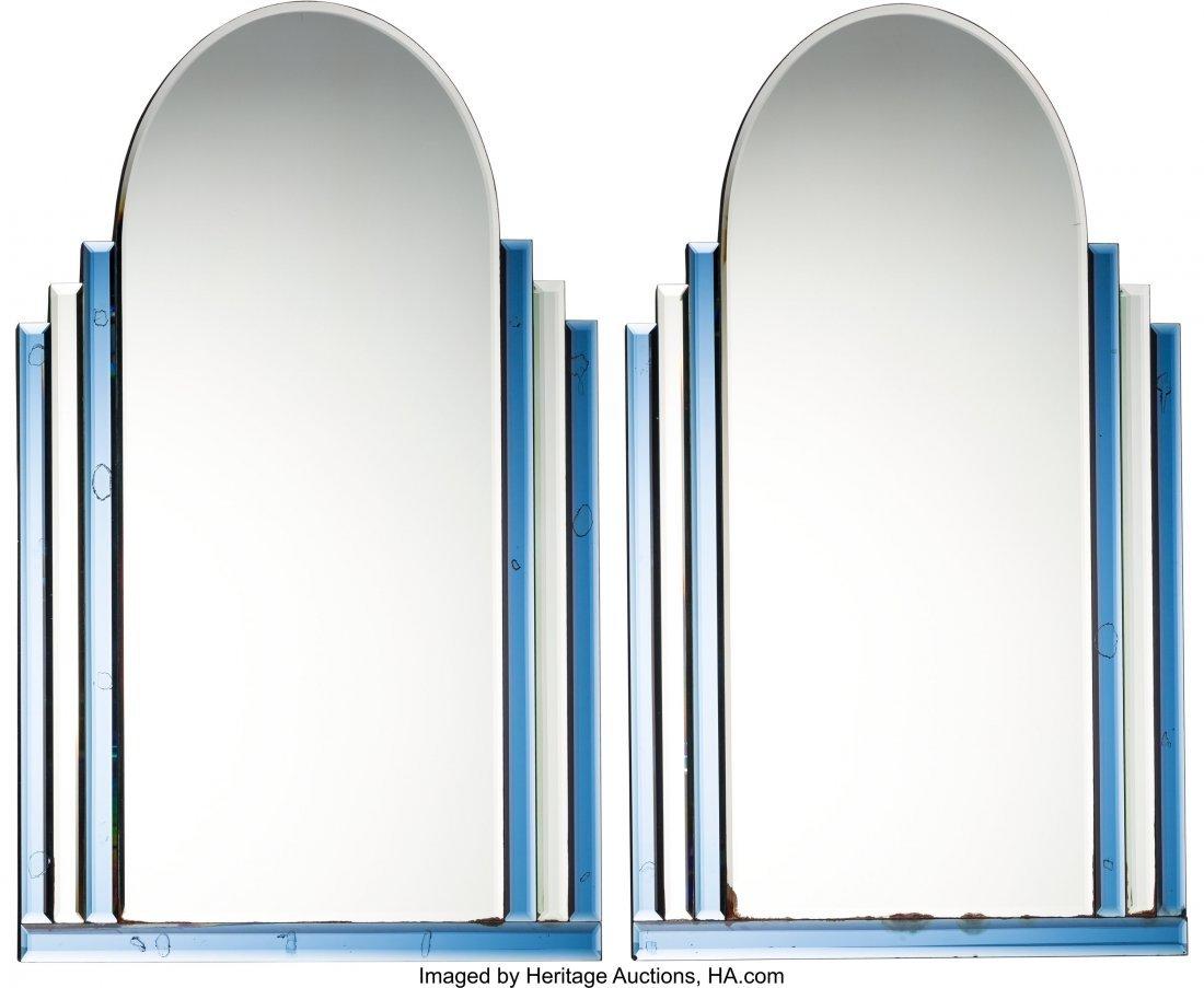 79101: Pair of Art Deco Mirrors, circa 1930 48 x 36 inc