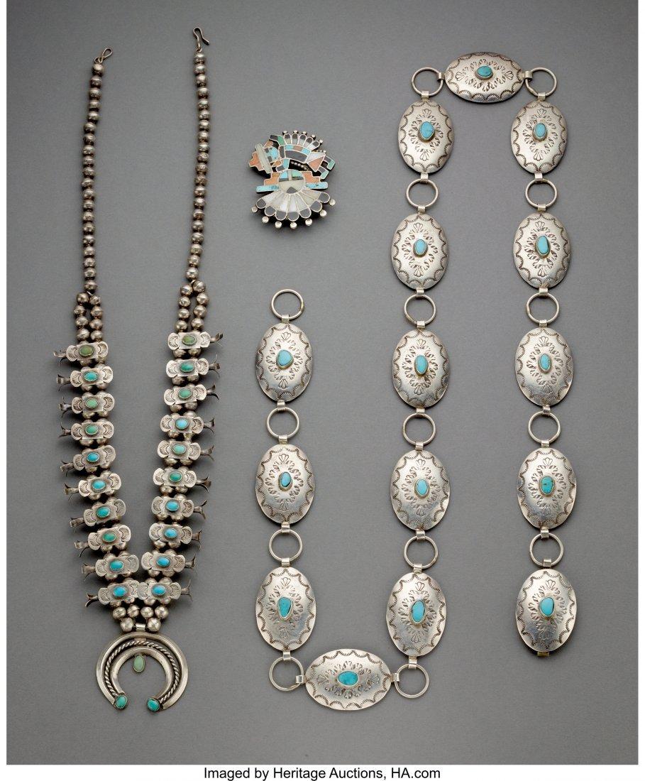70041: Three Southwest Jewelry Items  c. 1910 - 1950  i