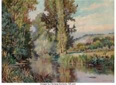 21018: Jack Wilkinson Smith (American, 1873-1949) River