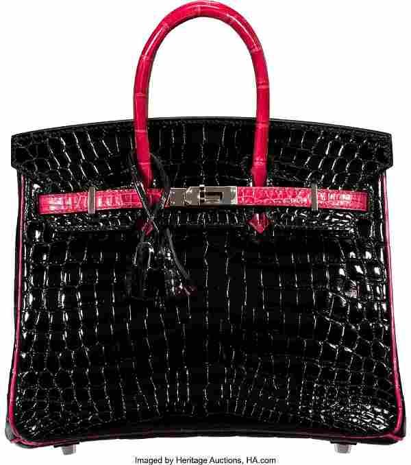 58016: Hermès Special Order Horseshoe 25cm Black