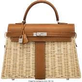 Hermès Limited Edition 35cm Fauve Barenia