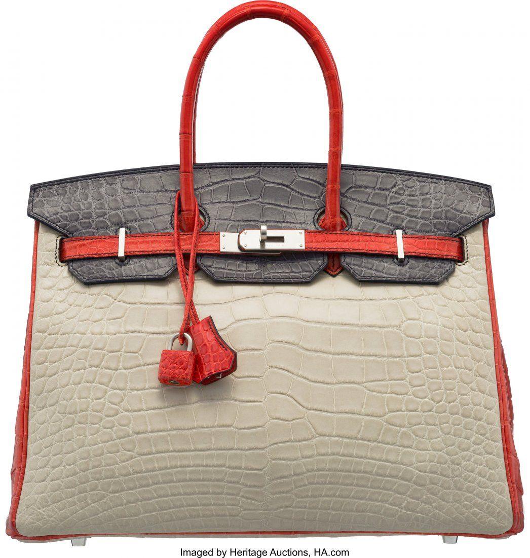 58176: Hermès Special Order Horseshoe 35cm Matte
