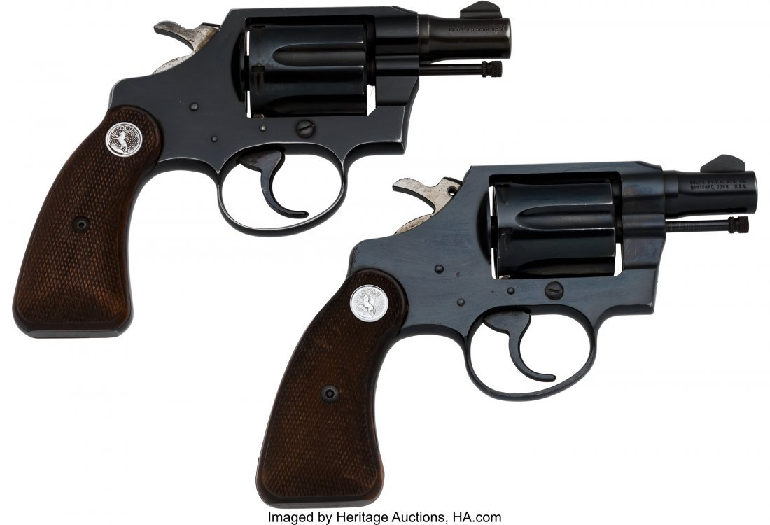 40243: Lot of Two Colt Double Action Revolvers.   Compr