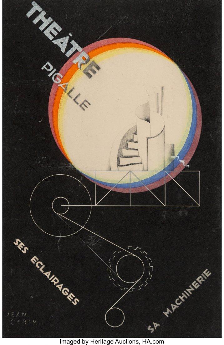 27125: Jean Carlu (French, 1900-1997) Thé&#x00e2