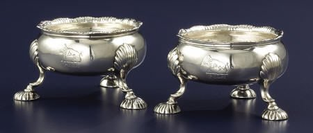 92001: A Pair of David Hennell Silver Salts