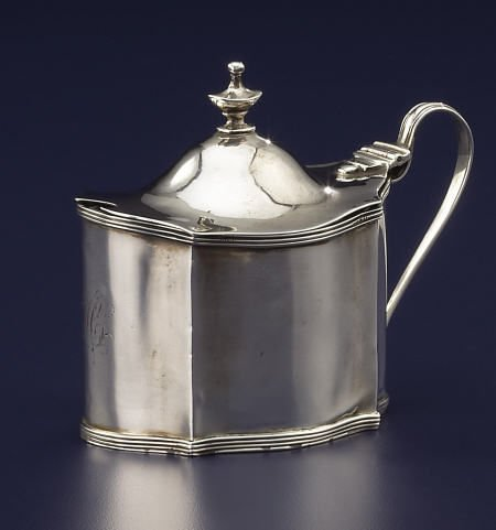 92012: A Charles Chesterman Silver Mustard Pot