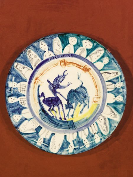 94011: Pablo Picasso, Corrida with Figures, ceramic