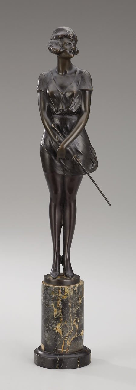 94021: Bruno Zach, Girl with Whip, bronze