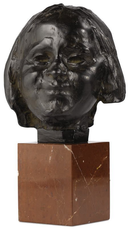 94022: Rik Wouters, Face of a Child, bronze