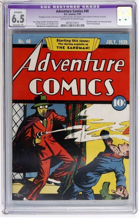 41002: Adventure Comics #40 (DC, 1939) CGC Apparent FN+