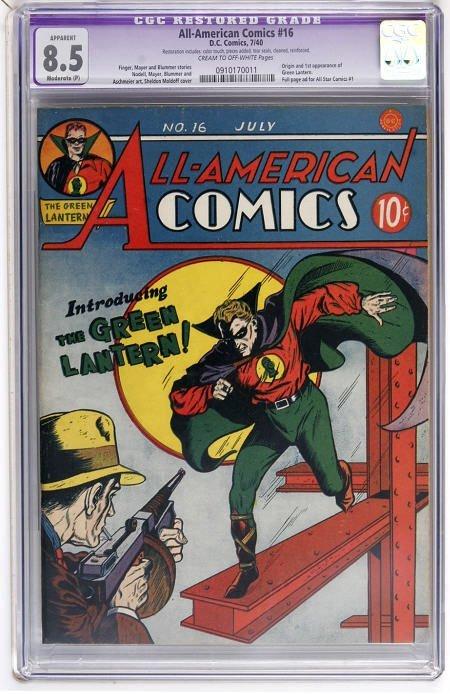 41004: All-American Comics #16 (DC, 1940) CGC App 8.5