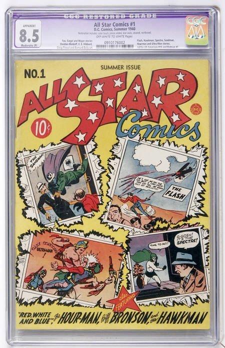 41006: All Star Comics #1 (1940) CGC Apparent VF+ 8.5